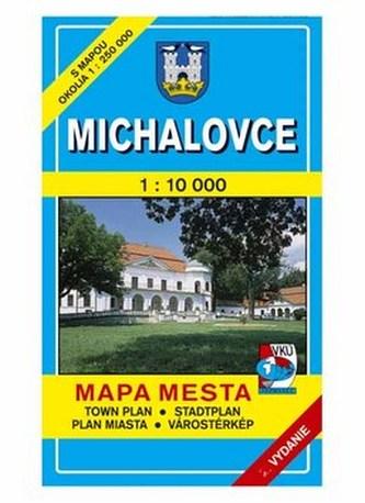 Michalovce Mapa mesta Town plan Stadtplan Plan miasta Várostérkép