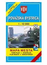 Považská Bystrica Mapa mesta Town plan Stadtplan Plan miasta Várostérkép