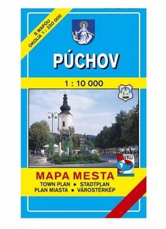 Púchov Mapa mesta Town plan Stadtplan Plan miasta Várostérkép