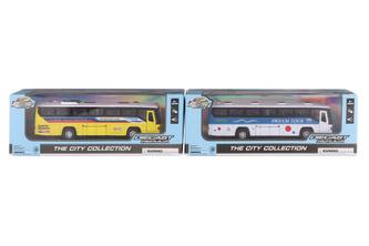 Autobus kovový se světlem a zvukem