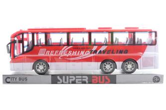 Autobus na setrvačník červený