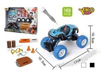 Stavebnice Auto 4WD 18ks, měřítko 1:32 - mix bílé nebo černé