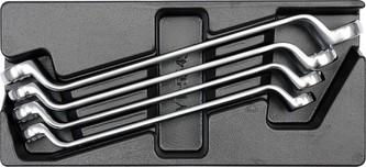 Vložka do zásuvky - klíče očkové ohnuté 4ks 21-32mm
