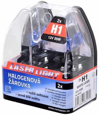 Žárovka 12V H1 55W P14,5s WHITE LASER 2ks