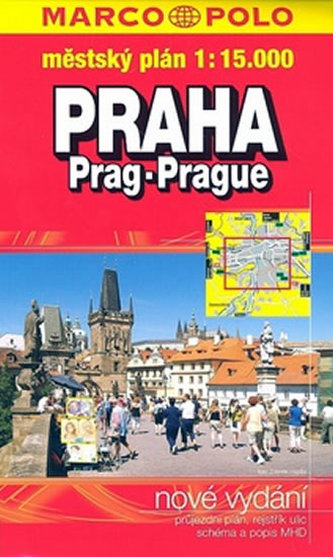 Praha 1:15.000 městský plán