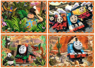 Puzzle: Mašinka Tomáš: Cestování 4v1 (12,15,20,24 dílků)