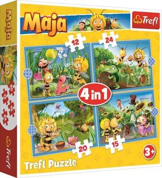 Puzzle: Včelka Mája: Dobrodružství 4v1 (12,15,20,24 dílků)