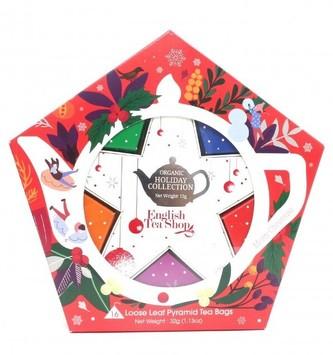 English Tea Shop Dárková kolekce s Červeno stříbrnou hvězdou 16 čajových sáčků