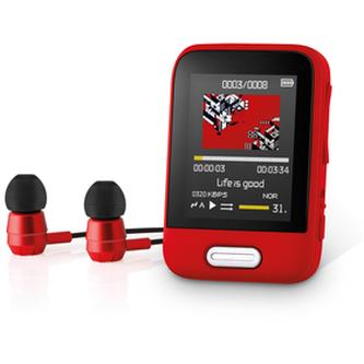 Přehrávač MP3/MP4 SENCOR SFP 7716 RD 16GB