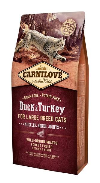 Carnilove Cat Grain Free Duck&Turkey LB Cat Muscles, Bones, Joints 6kg