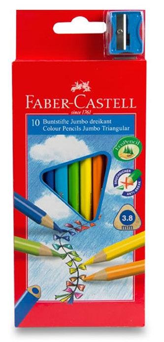 Faber - Castell Pastelky trojhranné Junior - středně silné 10 ks
