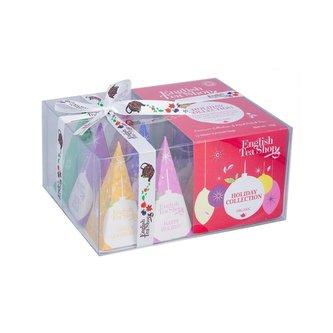 English Tea Vánoční kolekce bio čajů, červené ozboby,12 ks