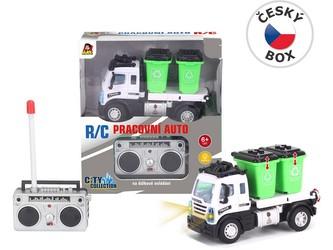 Auto popelářské s kontejnery, na dálkové ovládání