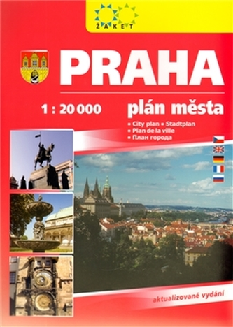 Praha 1 : 20 000. Plán města