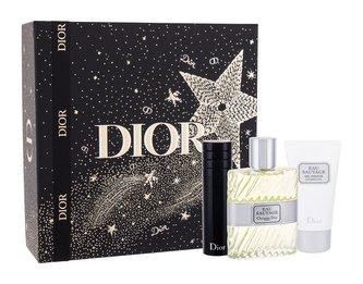 Christian Dior Eau Sauvage toaletní voda 100 ml + sprchový gel 50 ml + toaletní voda naplnitelná 10 ml