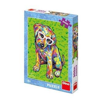 Puzzle Štěňátko s brýlemi 300 XL dílků