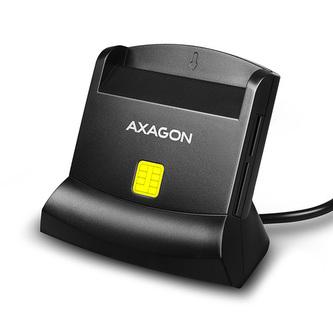 AXAGON CRE-SM2, USB externí čtečka 4-slot Smart card/ID card (eObčanka) + SD/microSD/SIM