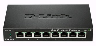 D-Link DES-108 8-port 10/100 Metal Housing Desktop Switch