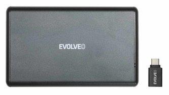 """EVOLVEO 2.5\"""" Tiny 2, 10Gb/s, externí rámeček na HDD, USB A 3.1 + redukce USB A/USB C"""
