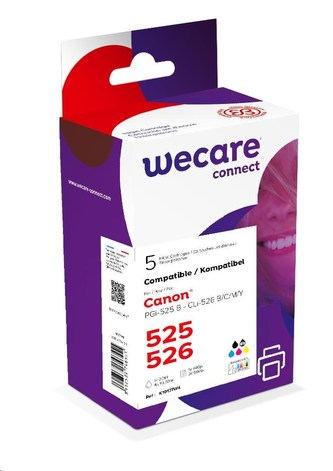 WECARE ARMOR cartridge pro CANON iP 4850 Sada černá/black+C+M+Y+K (PGI-525+CLI-526B/C/M/Y) 1x20ml/ 4x10,5ml