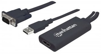 MANHATTAN Převodník z VGA a USB na HDMI