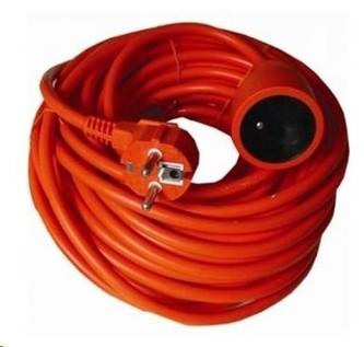 PREMIUMCORD Prodlužovací přívod 230V 40m, oranžová