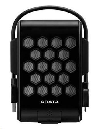 "ADATA Externí HDD 2TB 2,5\"" USB 3.1, DashDrive™ Durable HD720, G-sensor, černý, (gumový, vodě/nárazu odolný)"