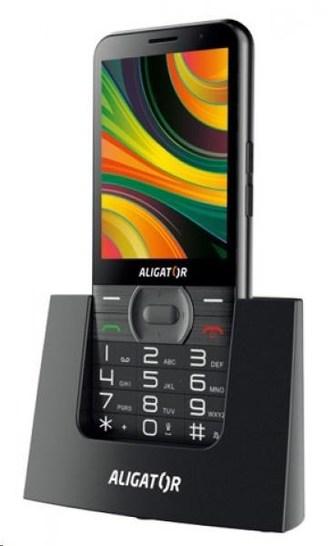 Aligator A900 Senior, černá + nabíjecí stojánek