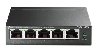 TP-Link TL-SF1005LP [5-Port 10/100Mbps Desktop Switch with 4-Port PoE]