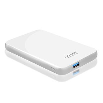 """AXAGON EE25-S6, USB3.0 - SATA 6G, 2.5\"""" SCREWLESS externí box, bílý"""