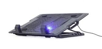 """GEMBIRD Podstavec pod notebook NBS-1F17T-01, pro notebooky do 17\"""", 150mm větrák, LED, černý"""