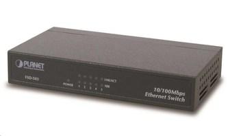 """Planet FSD-503 Switch, 5x 10/100Base-TX, 10\"""", kov, fanless"""