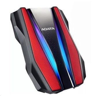 "ADATA Externí HDD 2TB 2,5\"" USB 3.2 HD770G, červená"