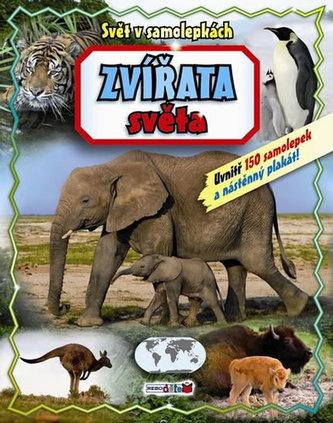 Zvířata světa - Svět v samolepkách