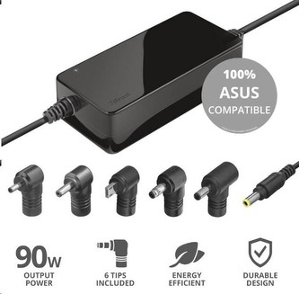 TRUST napájecí adaptér MAXO pro notebooky ASUS 90W, vč. koncovek