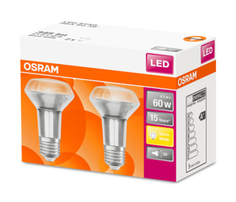 OSRAM LED STAR R63 36° 4,3W 827 E27 345lm 2700K (CRI 80) 15000h A+ (Krabička 2ks)