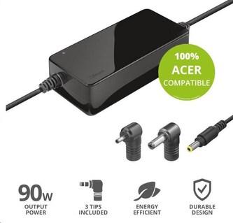 TRUST napájecí adaptér MAXO pro notebooky ACER 90W, vč. koncovek