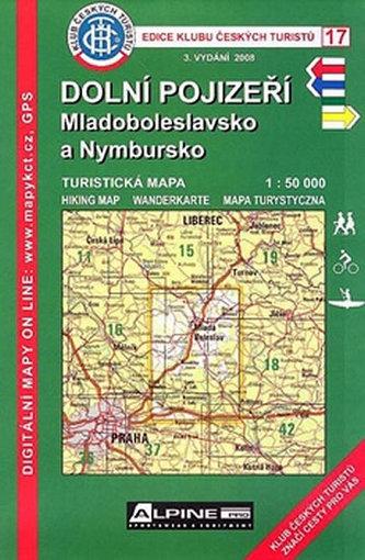 KČT 17 Dolní Pojizeří, Mladoboleslavsko a Nymbursko 1:50 000 - neuveden