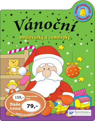 Vánoční omalovánky a samolepky