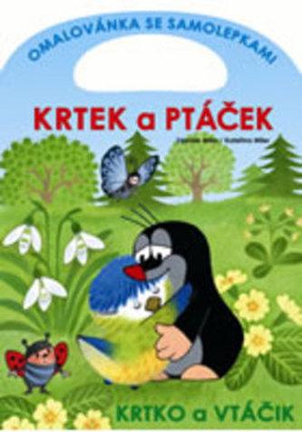 Krtek a ptáček - omalovánka se samolepkami
