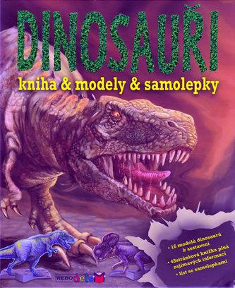 Dinosauři - knížka a modely a samolepky