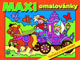 MAXI omalovánky – oranžová