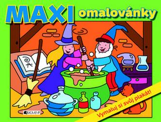 MAXI omalovánky – zelená