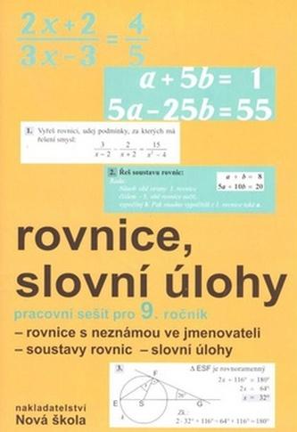 Rovnice, slovní úlohy pracovní sešit pro 9. ročník