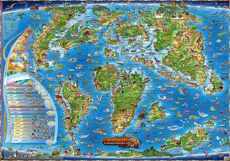Dětská mapa Prehistorický svět - neuveden