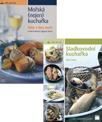 Balíček 2ks Sladkovodní kuchařka, Mořská kuchařka