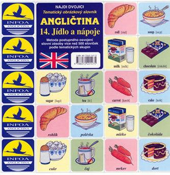 Angličtina 14. Jídlo a nápoje - pexeso - Jitka Pastýříková
