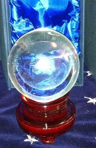 Křišťálová koule 10 cm