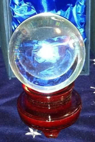 Křišťálová koule 12 cm