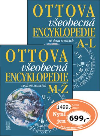 Ottova všeobecná encyklopedie ve dvou svazcích A-L, M-Ž